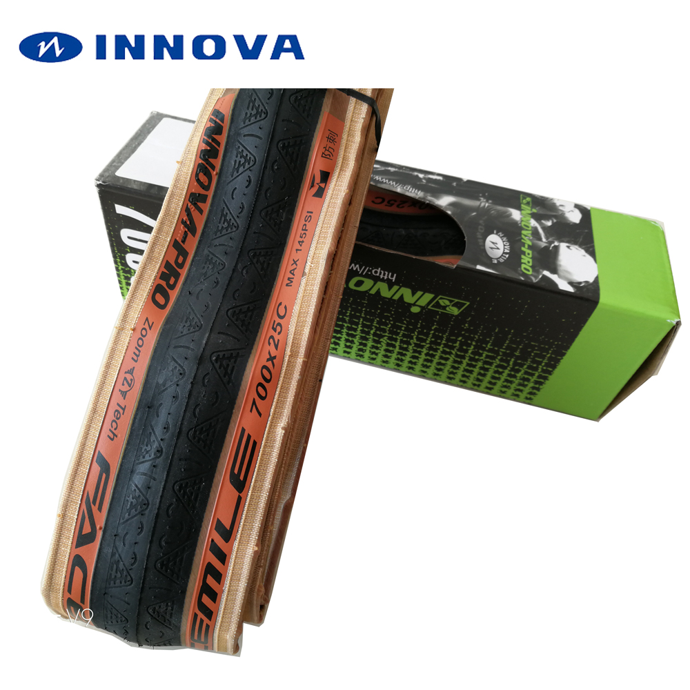 INNOVA bicycle tire 700 700 x 23C 25C 120TPI Kevlar anti puncture road bike tyres ultralight 210g Racing tires folding pneu 700C цены онлайн