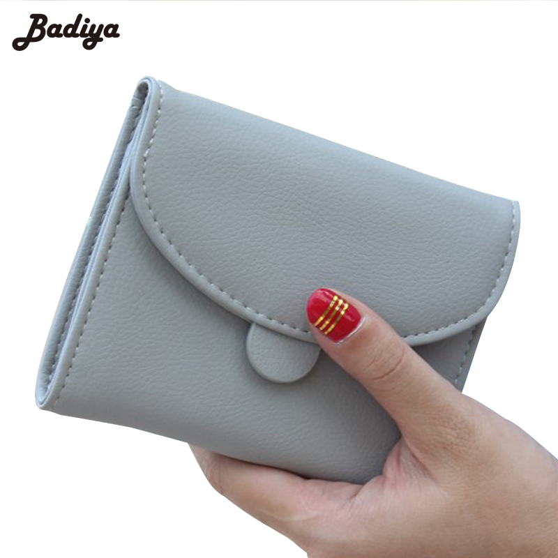 Fashion Solid Short Women Wallets Bifold PU Leather Small Purses For Woman Casual Ladies Hasp Wallet Card Holder casual weaving design card holder handbag hasp wallet for women