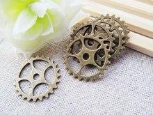 30pcs antique bronze  gear  metal charm/finding GR0001 30pcs vintage bronze metal small wings