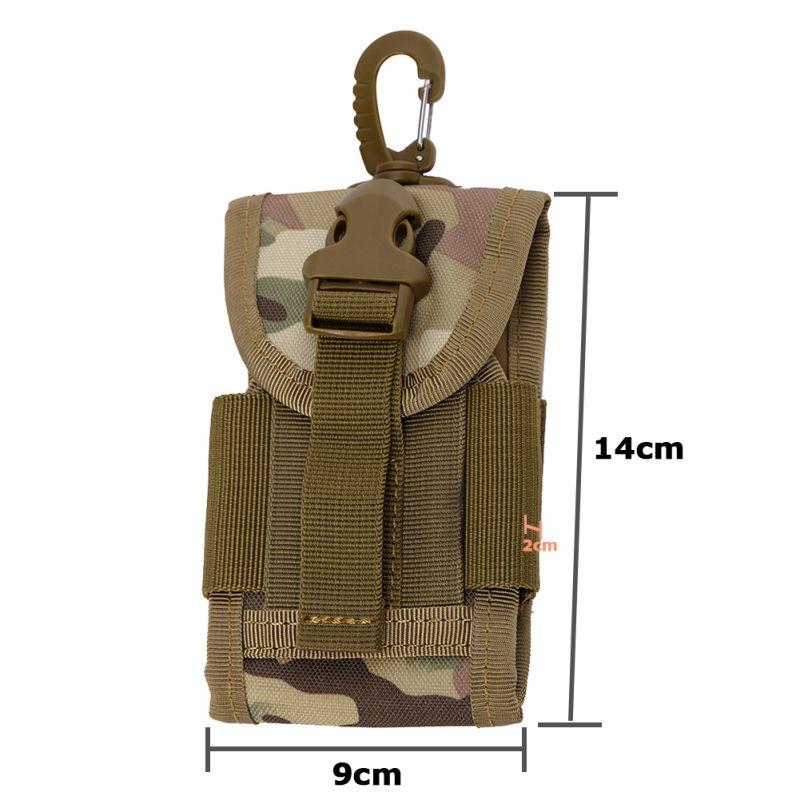 905a5d2ee89e Portable Universel Armée Tactique Sac Cover Housse Holster pour Mobile Téléphone  Ceinture Boucle Crochet