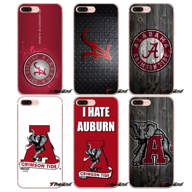 394cac099ed Alabama Crimson Roll Tide Elephant Case For iPhone X 4 4S 5 5S 5C SE 6 6S 7  8 Plus Samsung Galaxy J1 J3 J5 J7 A3 A5 2016 2017