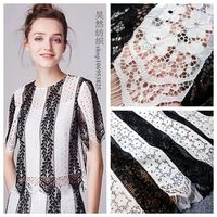 1.5x1.5Meters Black Off white multi colors lace fabric 2018 NEW fashion design eyelash lace for making women dress and gowns!