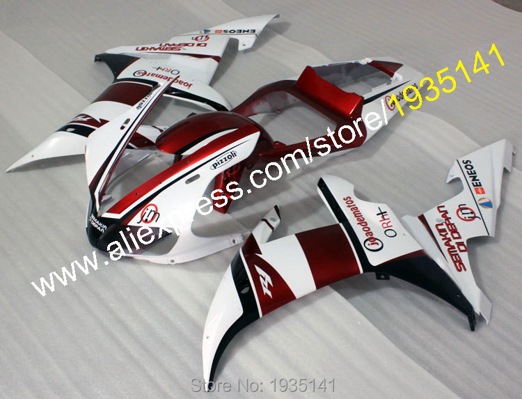 Hot Sales,Fairings parts For Yamaha YZF R1 2002 2003 YZF1000 02 03 YZF-R1 Motorbike cowling kit Complete set (Injection molding)