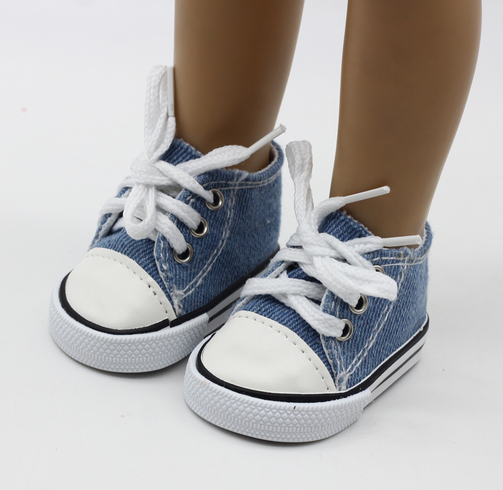 9color-Cute-Doll-Shoes-For-18-Inch-Baby-Born-Doll-Handmade-Sneakers-American-Girl-doll-Accessories-Denim-Canvas-Mini-Toy-Shoes-4