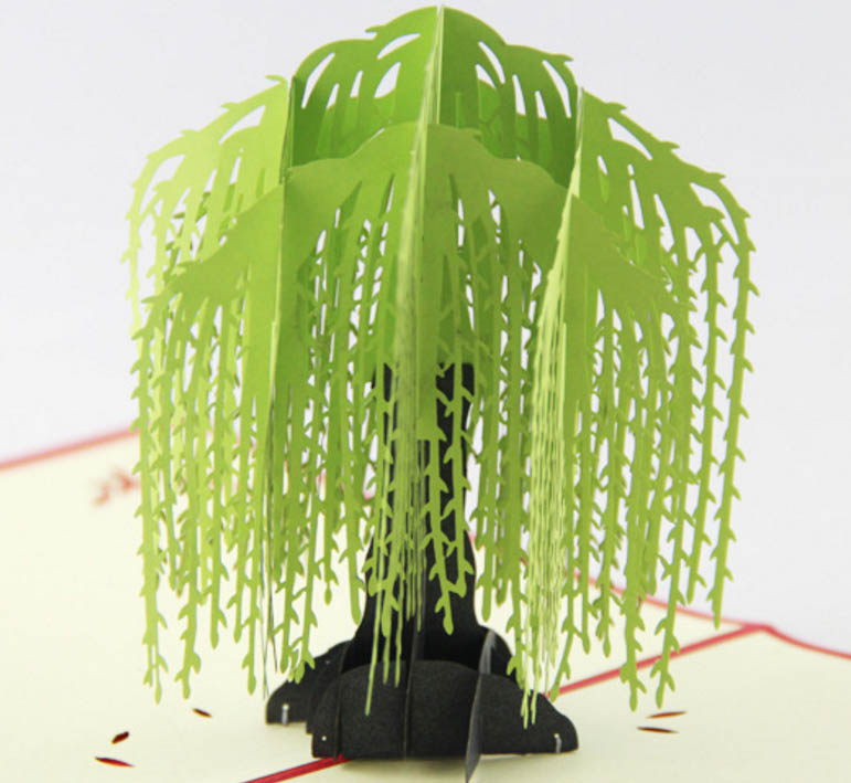 Willow tree pop up card3d kirigami card handmade spring tree willow tree pop up card3d kirigami card handmade spring tree greeting cards in cards invitations from home garden on aliexpress alibaba group m4hsunfo