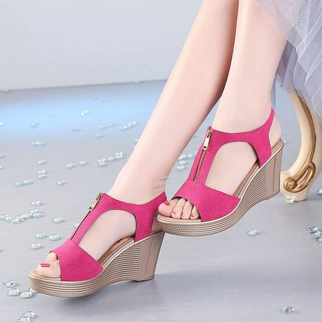 a065275664828 D Henlu Women Sandals Summer Platform Sandals High Heels Sandal Shoes Women  Ladies Sandal Heels Wedge sandalia plataforma