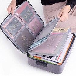 Große Kapazität Dokument Datei Tasche Fall Wasserdichte Dokument Tasche Organizer Papiere Lagerung Pouch Credential Tasche Diplom Lagerung Datei