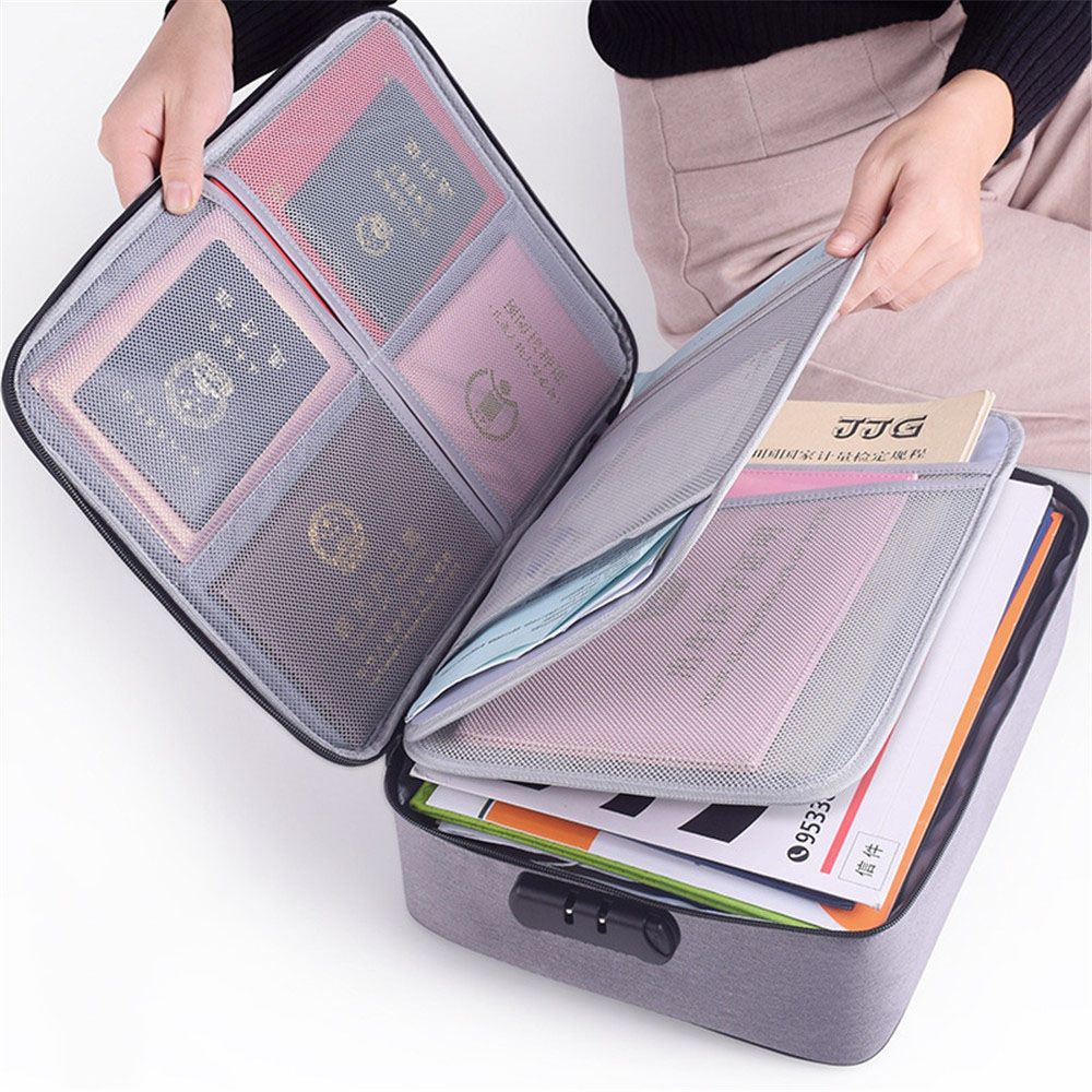 Large Capacity Document File Bag Case Waterproof Document Bag Organizer Papers Storage Pouch Credential Bag Diploma Storage File