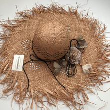 ZJBECHAHMU Fashion Solid Vintage Floral Straw Sun Hat for Women Beach Visor Outdoor Holiday Heach Protection Collapsible