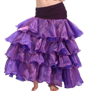 2018 New Sale Bellydance Costume Skirt Seconds Kill Freeshipping For Square Dance Belly Clothes South Korean Layered Dress Q21