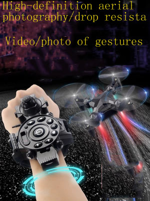 Mini watch black tech uav aerial photography high-definition professional induction four-axis remote control aircraft small airc