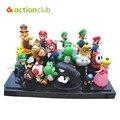 "Super Mario Bros 1 Unidades 1 "" - 2.5 "" juguete dinosaurio yoshi figura Super Mario yoshi figura de acción del PVC retai"