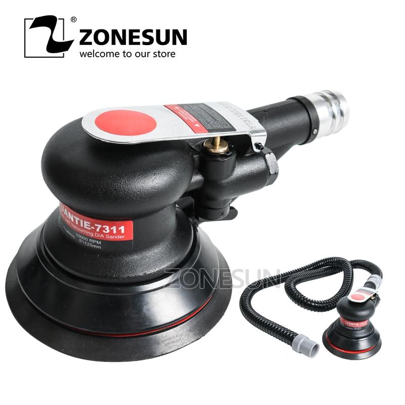 ZONESUN YT-7311 Mini air Sander Woodworking For Polishing Wood,Metal rust,Wall renovation Pneumatic Tool Car Polisher small bottle filling machine