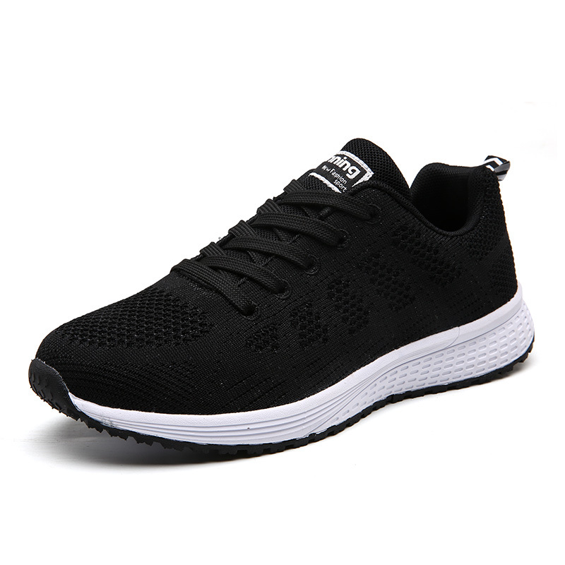 Fabric Fly Shoes Falt Net Run Portable Sports Shoes Man Sneakers All Match Korean Female Students Running Shoes Breathable