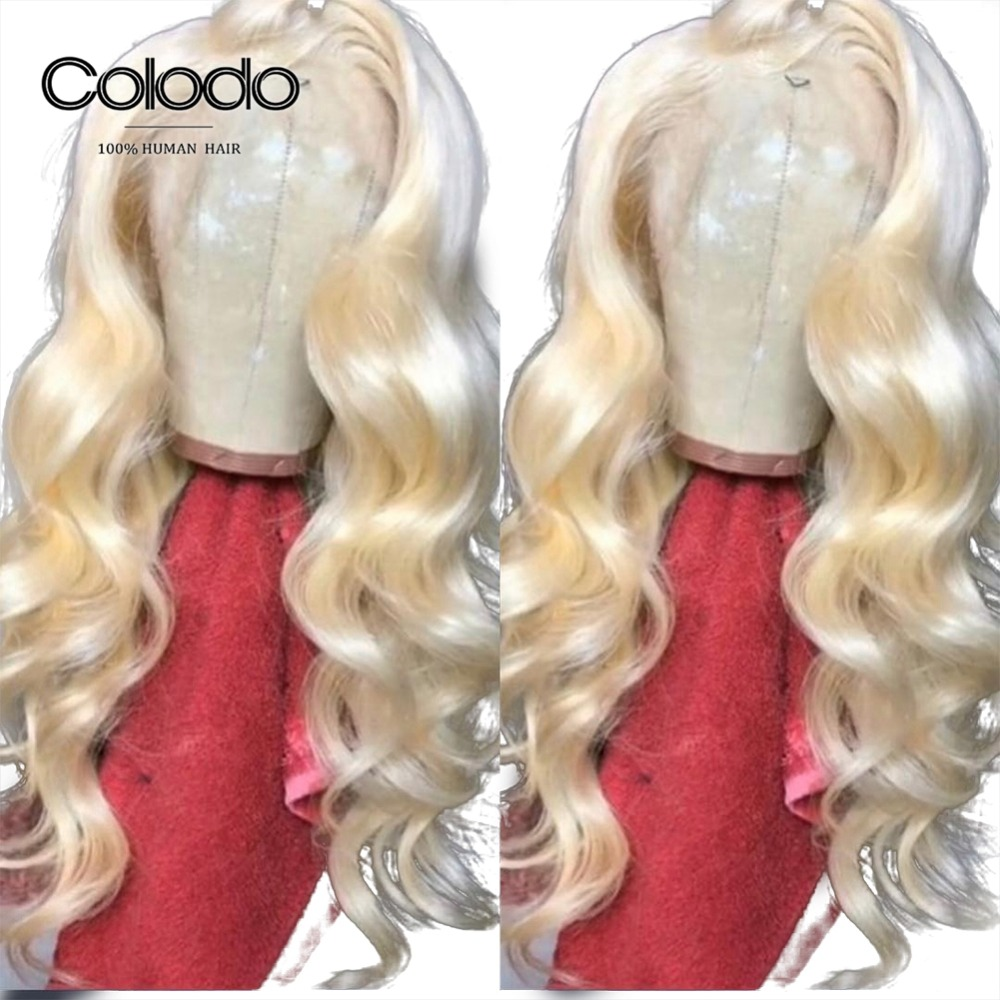 Colodo Loose Wave Wig 613 Human Hair Lace Front Wig With Preplucked Bleached Knots Brazilian Remy