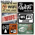 [SQ-DGLZ] Новый зоны Wi-Fi жестяная вывеска Настенный декор Wi-Fi доступно здесь Изделия из металла живопись таблички Wi-Fi нет Арт плакат