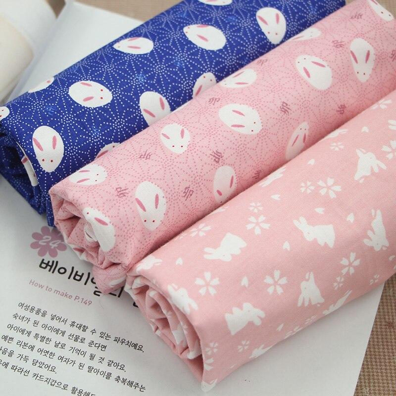 Estilo japonés Conejo Impreso Pañuelos de Tela de Algodón Para coser la Costura