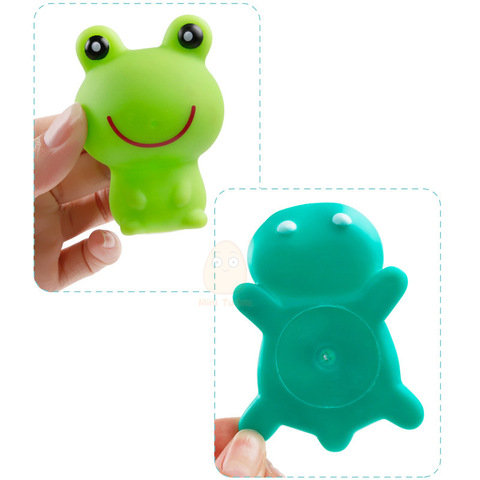 Baby Bath Toys Kids Swimming Water Toys Bathroom Colorful Soft Floating Rubber Animal Squeeze Sound Squeaky Bath Toy Organizer Lahore