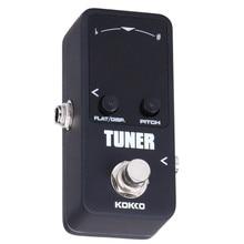 KOKKO TUNER MINI Electric Guitar Pedal Tuner Effect Device Dual Display For Guitarra Bass Guitar Violin Ukelele Instruments Part
