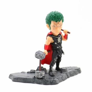Anime One Piece 12cm Roronoa Zoro as Thor Ver. Action Figure Collection Model Toys