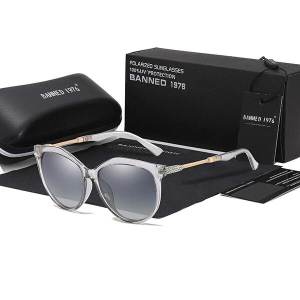 2019 New Luxury HD Polarized Women Sunglasses Fashion Round Ladies Vintage Brand Design cat eye woman Female Sun Glasses oculos 10