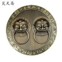 [Хаотянь вегетарианские] дверной молоток Китайская украшения Античная медь справиться Античная ручка HTA 096 шасси