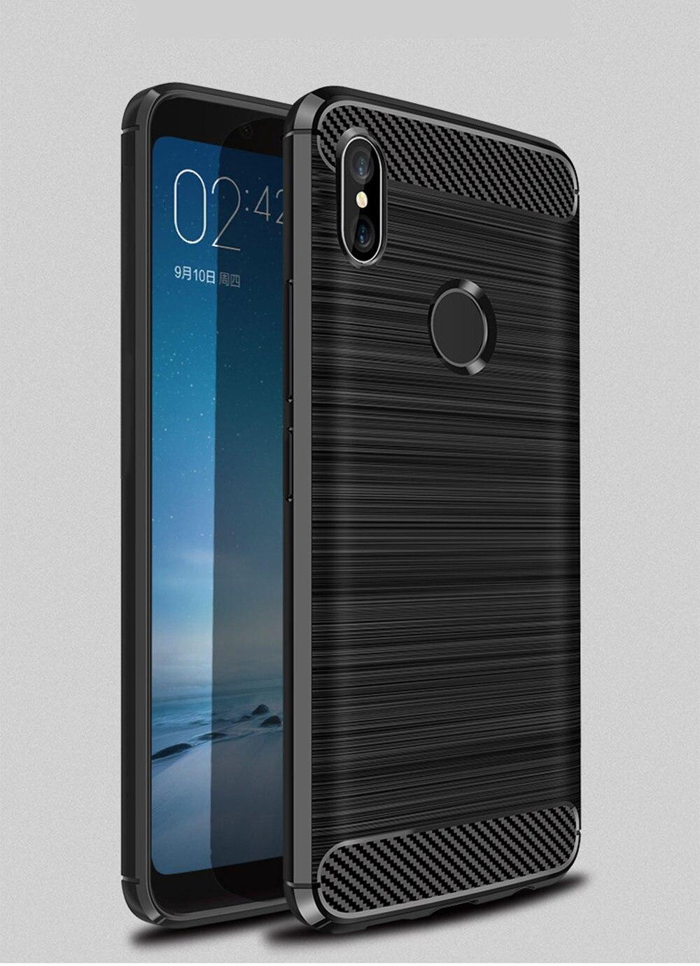 Case For Xiaomi Mi A2 Lite Case Shockproof Bumper Mia2 Lite Cover Soft Carbon Fiber Protective Cover For Redmi 6 Pro Case 5.84''