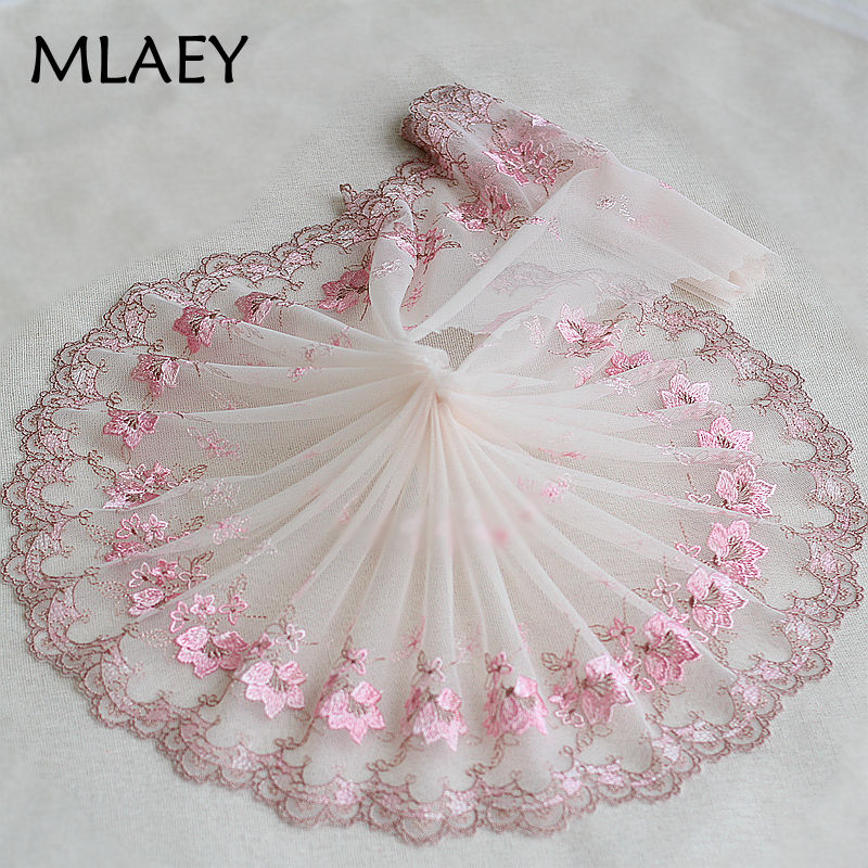 "1 Pcs Pink  Embroidery Handmade Wedding Lace 3 Layers Dress for 11/""  Cl"