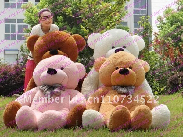 6.56 Feet / 200cm 4 Colors Optional Giant Plush Stuffed Teddy Bear Free Shipping FT90056