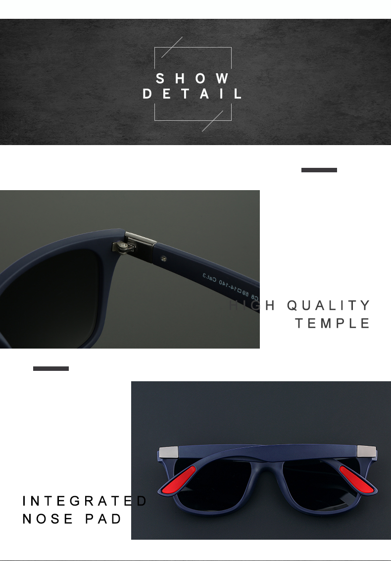ASUOP 2019 new square polarized men`s sunglasses UV400 fashion ladies glasses classic brand designer sports driving sunglasses (7)