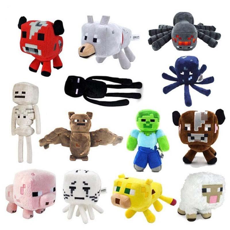 Minecraft Plush Toys 13 Styles Soft Stuffed Animal Doll Kids Game Cartoon Toy Brinquedos Children Gift Free Shipping