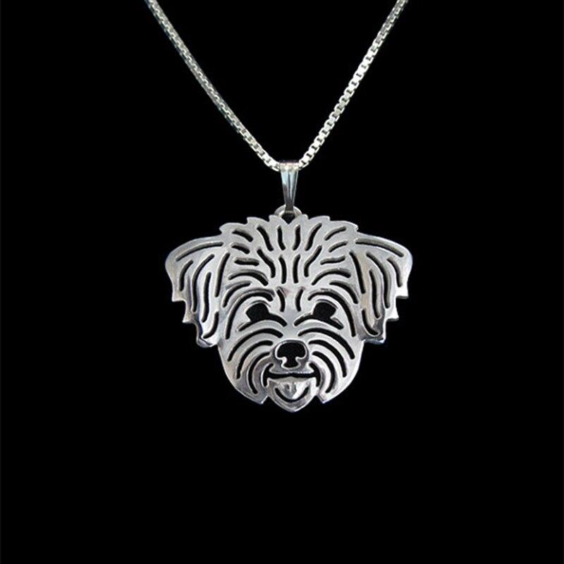 Gold Silver Color Coton de Tulear (in puppy/pet haircut) Pendant Necklace Hunger Games Necklace Women Best Friend Choker