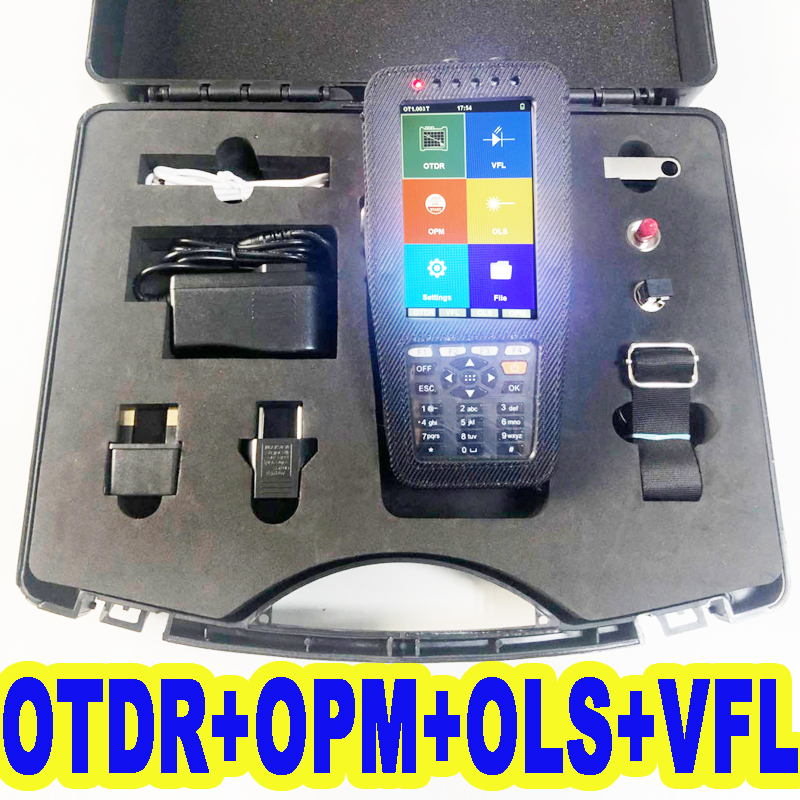 FirstFiber 980PRO Multi FunctionS Touch Sensitive OTDR Reflectometer Built-in OPM OLS VFL, With Durable Carrying Suitcase