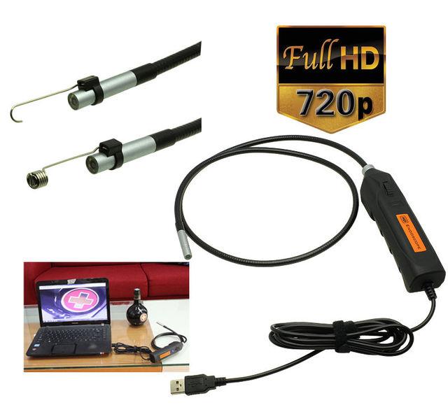 Portátil HD de 2 Mega Píxeles USB Endoscopio Endoscopio Serpiente Inspección de Tubos Cámara 3 M de Largo