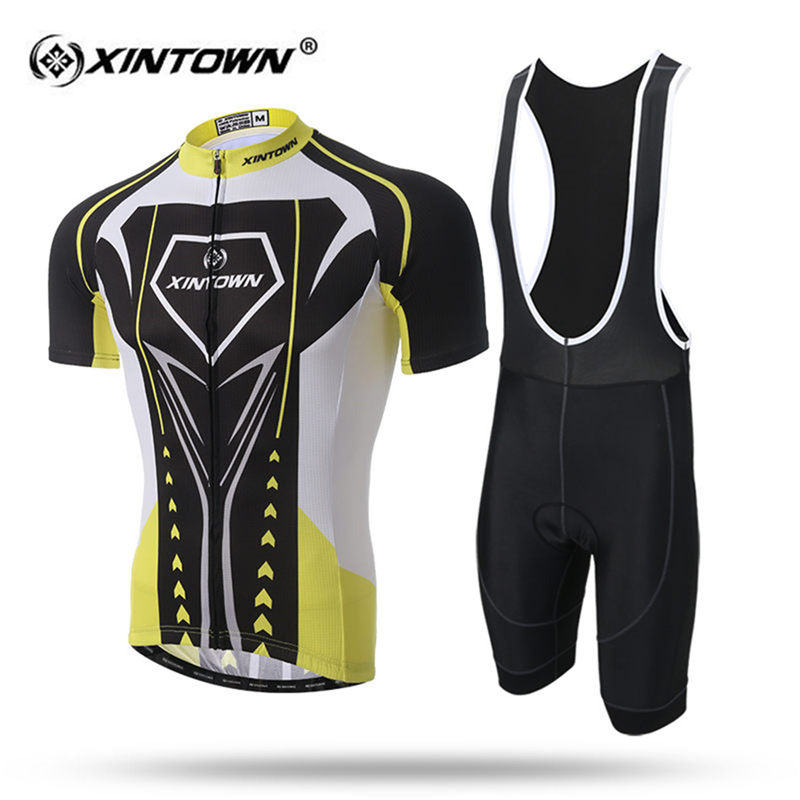 XINTOWN Quick Dry Short Sleeve Cycling Jersey Set MTB Bike Clothing Summer Bicycle Jerseys Cool Men Maillot Ropa Ciclismo