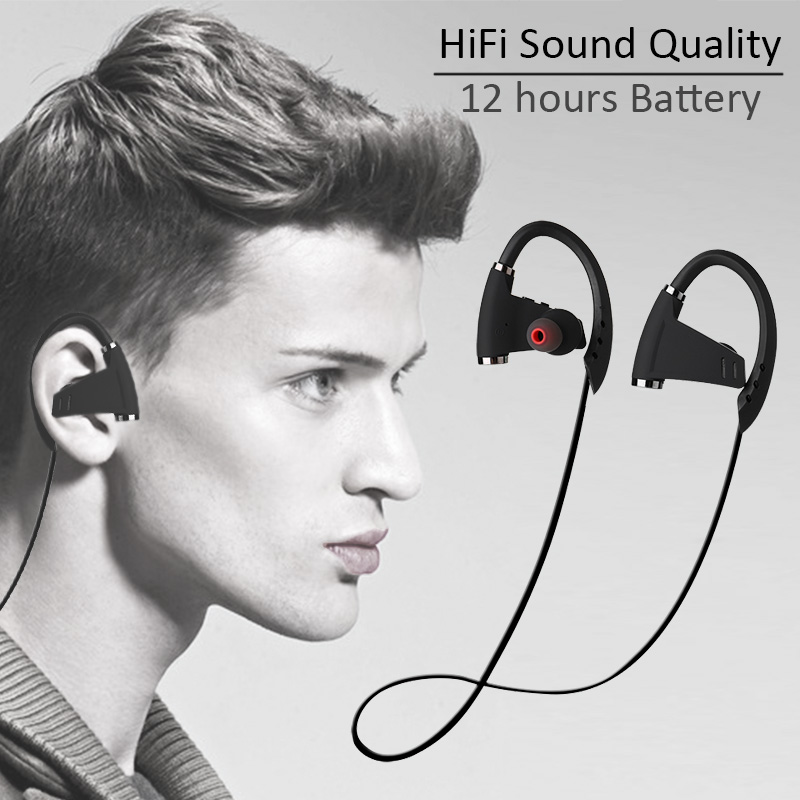 SKhifio U9 Wireless Bluetooth Headset Headphone in-Ear Stereo Running Earphones Headsets Earbuds with Mic for Xiaomi Phone