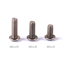 50pcs/lot M3 6mm 8mm 10mm 12mm 14mm Hex Socket Button Head /Titanium Bolt Screw for FPV Racing Quadcopter Accessory(China)