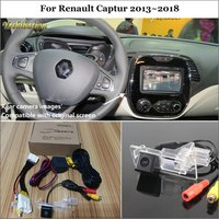 Yeshibation 24Pin Adapter Cable Car Rear View Camera For Renault Captur 2013~2018 Original Screen Compatible Reverse Camera
