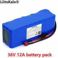 Liitokala 36V 12Ah 18650 10s4p batería de litio Paquete de alta potencia 12000mAh motocicleta coche eléctrico bicicleta Scooter con BMS