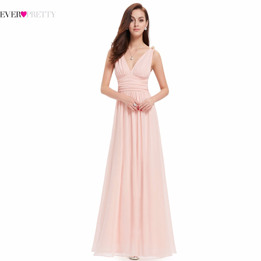 HET9016RD Ever Pretty Red Double V Elegant Evening Dress