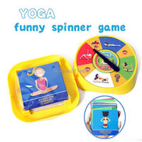 NEW Family Game YOGA Spinner Funny Game With 54 Yoga Pose Cards Parent Kid Best Educational
