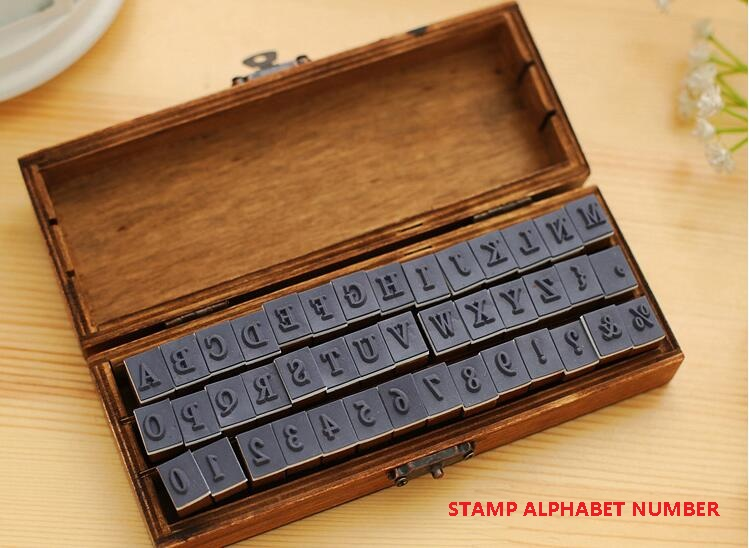 Фото Штампы 42 Pcs/set Romantic Handwriting Alphabet Letter Wooden Stamp Set Retro Vintage Wooden Craft Box Rubber Stamp 3 Design For Choose