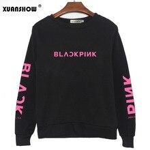 XUANSHOW 2018 BLACKPINK альбом Kpop толстовка хип хоп повседневное с буквенным принтом толстовки одежда пуловер принтом топы длинными рукавами