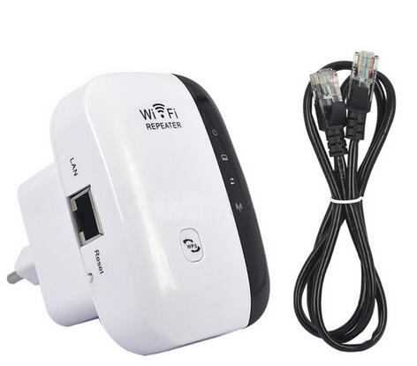 Portable Wireless 2.4GHz 300Mbps Networking Amplifier WiFi Repeater (AC 100-240V / EU Plug)