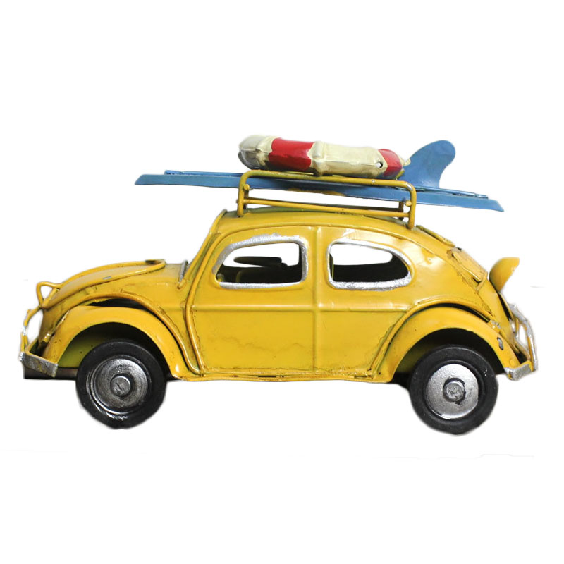 Home Decor Vintage Car Model Gifts Ornaments Iron Crafts Car Figurines Vehicle Miniature Car Model Bar Furnishings Kid Toys Gift