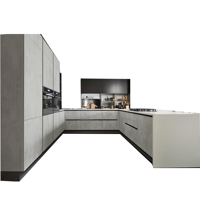 U shaped modern high gloss design lacquer wooden kitchen ...