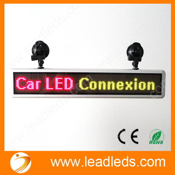Rechargeable LED Car Sign Pixel 16*128 Rgy Programmable Message Display Module Panel High Bright Led Light For Car Advertising hot sale 16inch waterproof oil price led digital number display screen sign panel from china