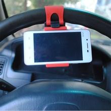 "Car Phone Holder Car Steering Wheel Car Mount Holder Clip Buckle Socket for iPhone Samsung Mobile Phone GPS Under 5.6"""