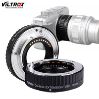 Viltrox DG M43 AF Auto Focus Macro Extension Tube Ring Lens Adapter for M4/3 Olympus E P1 Panasonic GH5 GH3 GF6 GX1 EM5 EM1|lens adapter|ring lenstube ring -