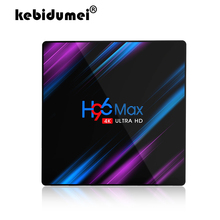 안드로이드 9.0 TV 박스 H96 MAX Rockchip RK3318 4GB RAM 64GB H.265 4K 음성 보조 Netflix Youtube 스트리밍 미디어 플레이어